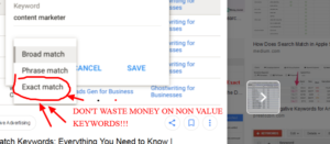 Exact Match Google Ads Keywords – Don't Lose Your Shirt!